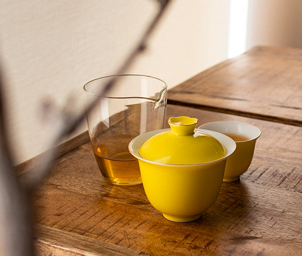 Premium Gaiwan Set (Yellow)