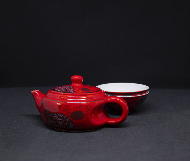Little Red Teapot Set