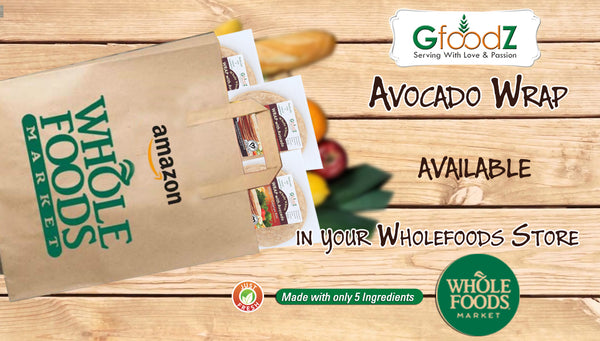 Avocado Wraps in Wholefoods Store