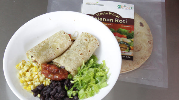 Nutritious lunch wrap - Mexican Roti wrap