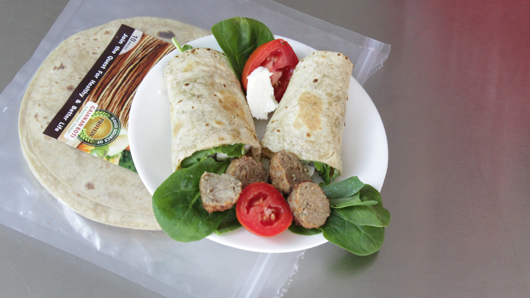 Nutritious lunch wrap - American Roti wrap