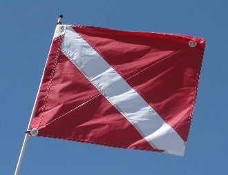 "Dive Flag 20""x24"" with stiffener"