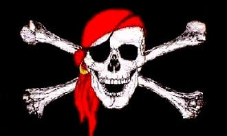 Pirate with Red Bandana Flag 2'x3'