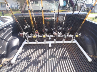 Truck Bed Fishing Rod Rack Cool Water Products