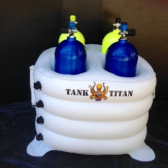 Tank Titan Inflatable Dive Tank Holder (Four Place)