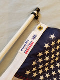 Rod Holder Flag Pole with American Flag - Made in USA
