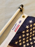 4' Flagpole Rod Holder Flagpole /  2' x 3' USA (made in USA) Flag Combo SALE!