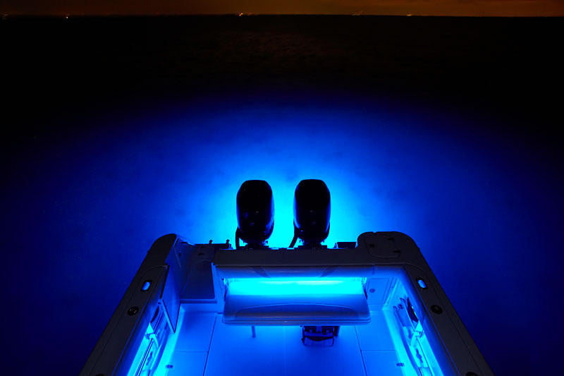 Led Underwater Transom Lights Quot Double Long Quot Cool Water