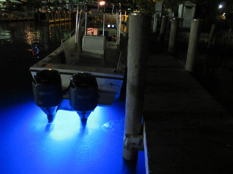 "LED Underwater Transom Lights ""Double Square"""