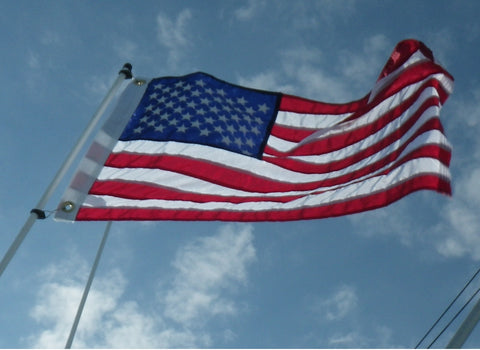6' Flagpole / Valley Forge 2' x 3' USA Flag Combo SALE!