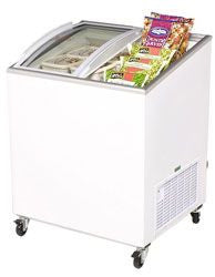 BROMIC Curved Glass Chest Freezer CF0200ATCG