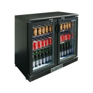 POLAR 2 Door Bar Display Cooler DL816