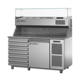 COLDLINE TZ09/1MC REFRIGERATED PIZZA  PREPARATION COUNTER