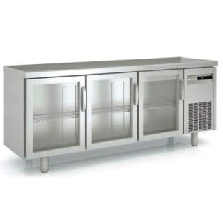 Coreco MRSV-200 Snack Three Glass Door Under Bench Chiller