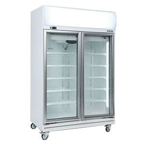 Bromic - Double Glass Door Fan Forced Chiller 976L w/Lightbox - GD1000LF