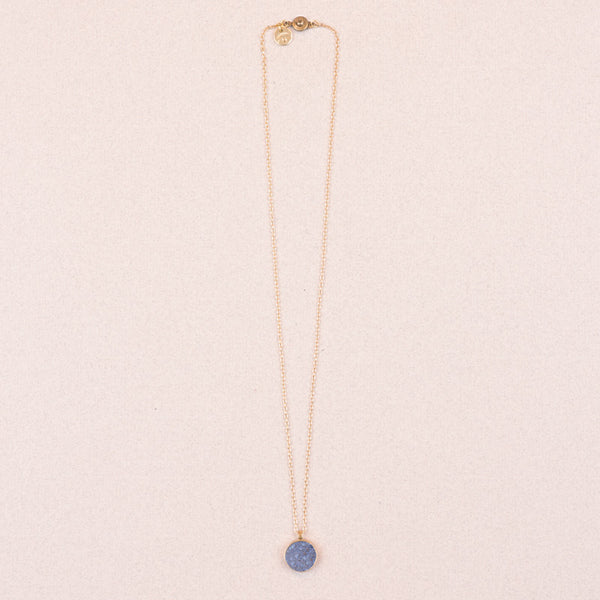 small dumortierite necklace