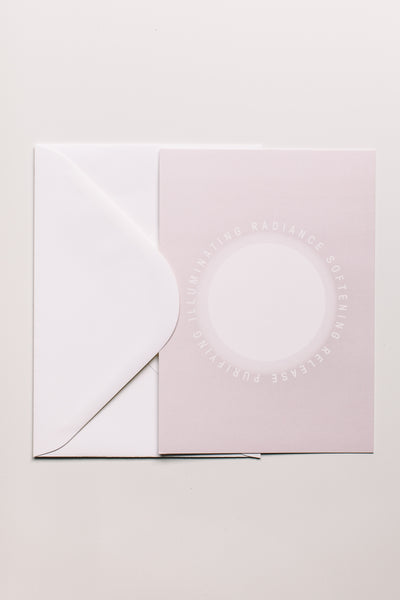 white ray notecard