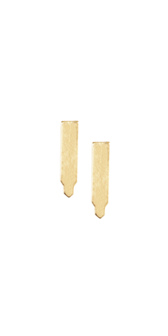 tower stud earrings - gold
