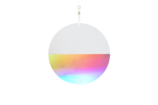 twelve inch half-iridescent ellipse