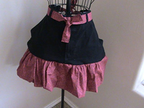 Touch of Class Red/Black Half Apron