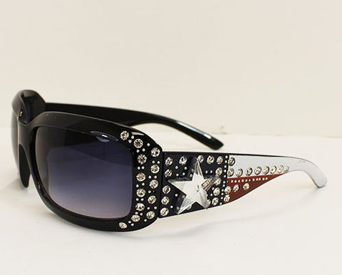 Texas Flag Rhinestone Sunglasses