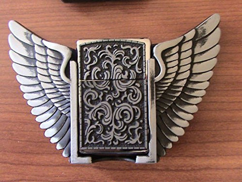 Deco with Wings Belt Buckle with Lighter