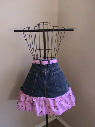 Pink Cowgirl Half Apron