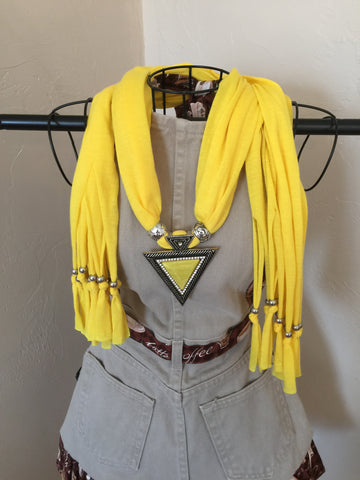 Fashion Jewelry Scarf Yellow Triangle