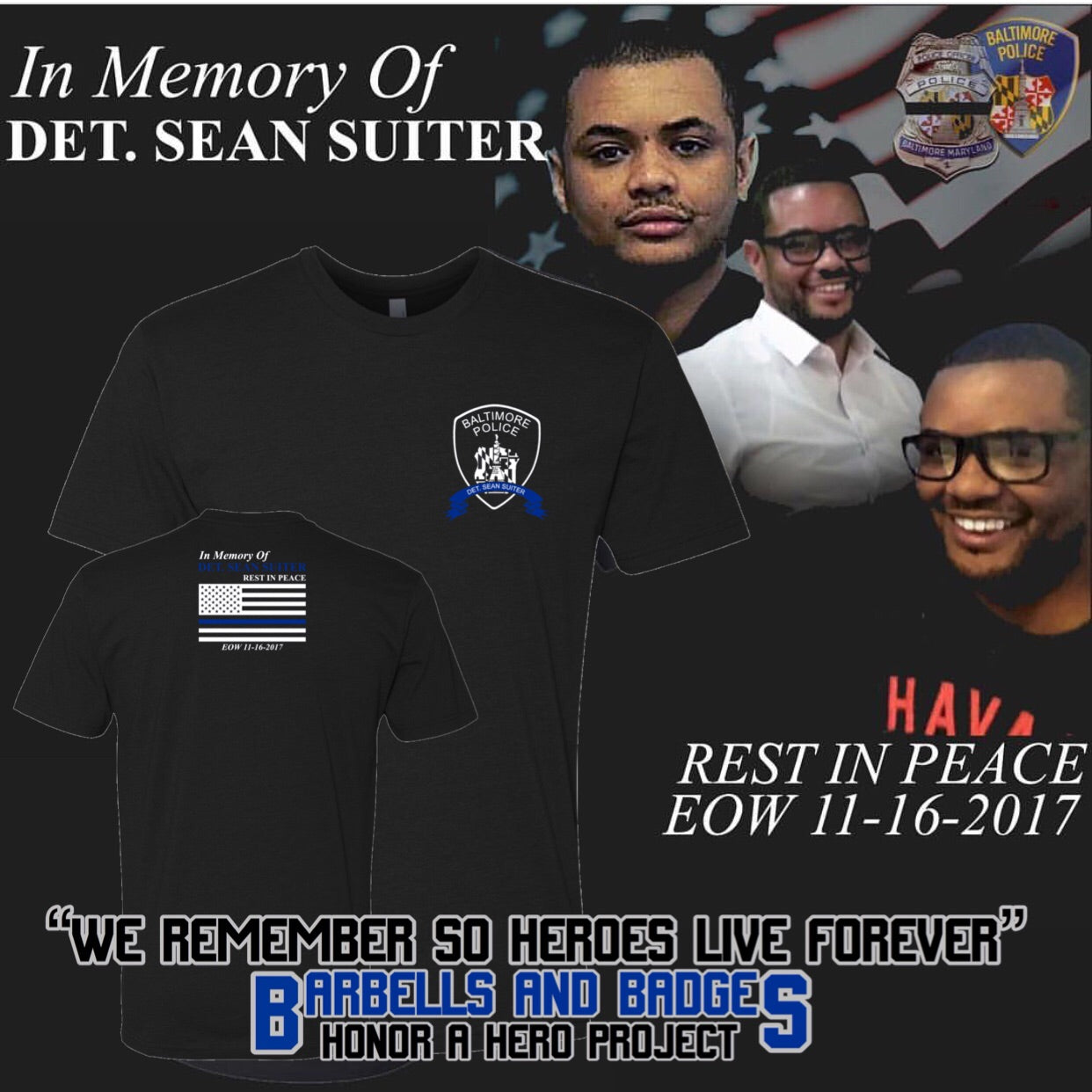 Detective Sean Suiter Official LS Memorial Shirt