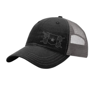 Black and Gray Snap Back