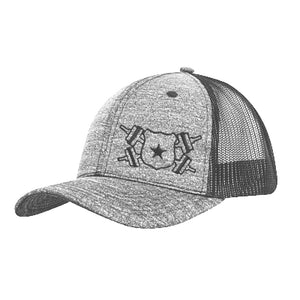 Light Gray and Black Jersey Snap Back