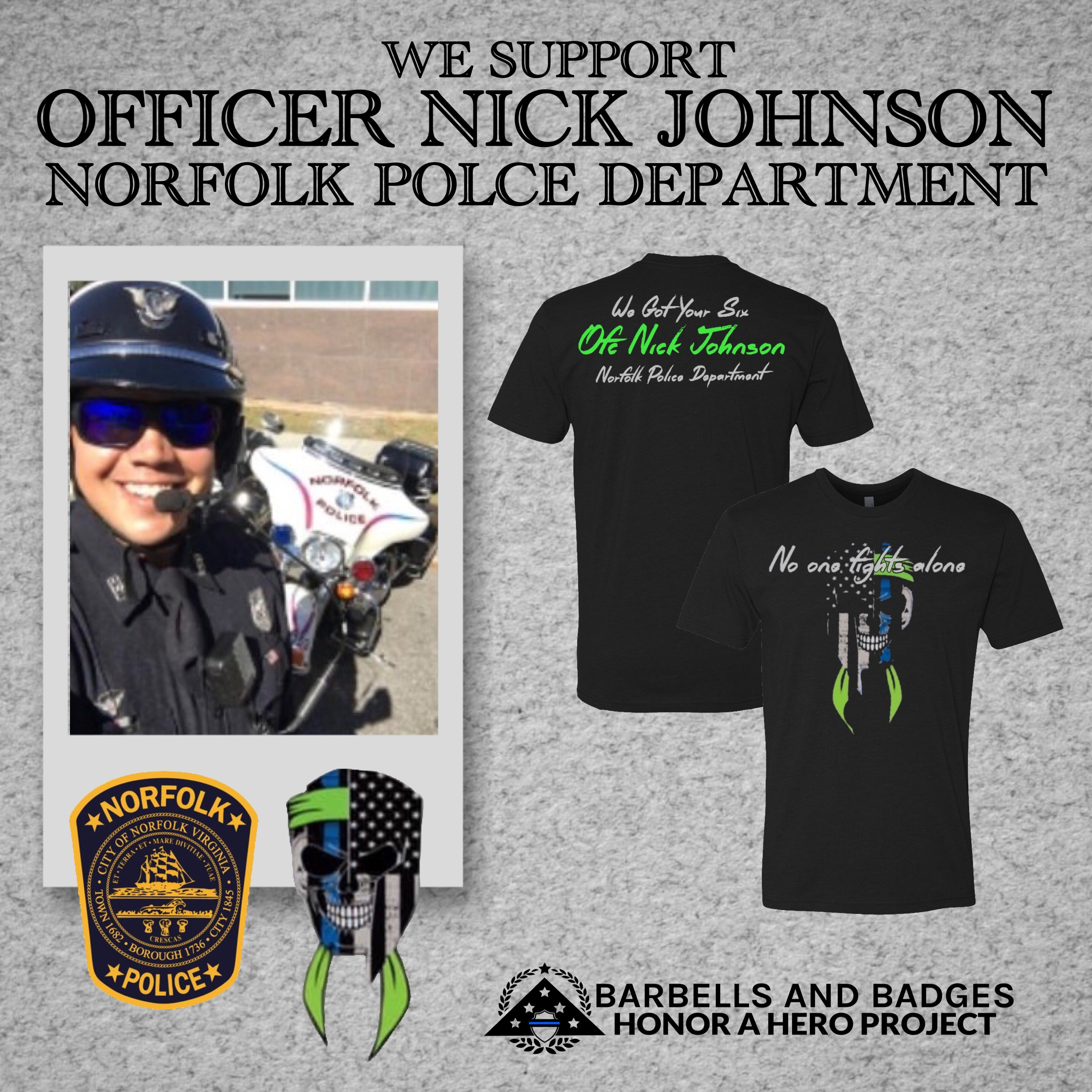 Officer Nick Johnson Support Shirt