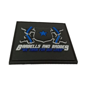 Barbells And Badges PVC Patch