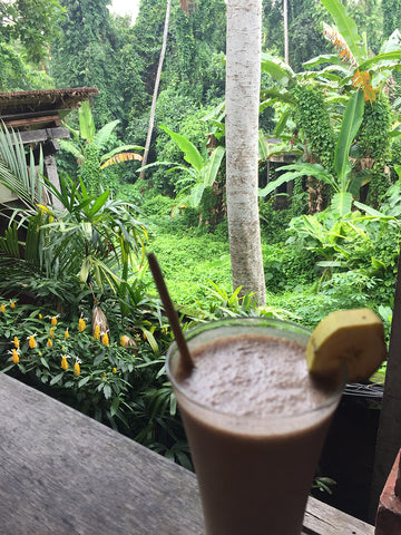 Cocoa shake at Yoga Barn