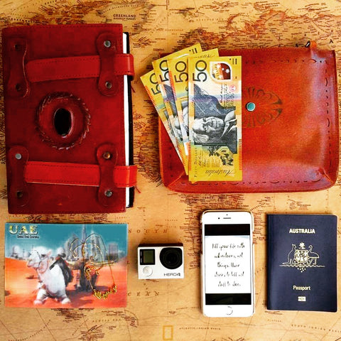 Dreamers and Drifters Alice Pye travel flatlay