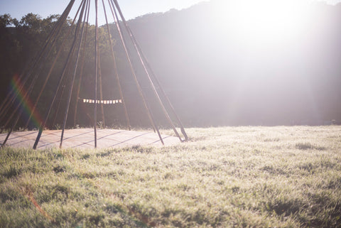 Dreamers and Drifters blog teepee