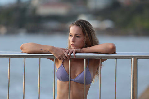 Dreamers and Drifters purple bikini