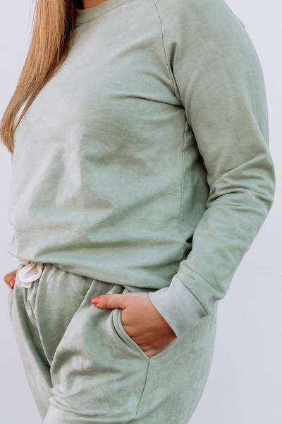 Sage Bamboo Terry Sweater