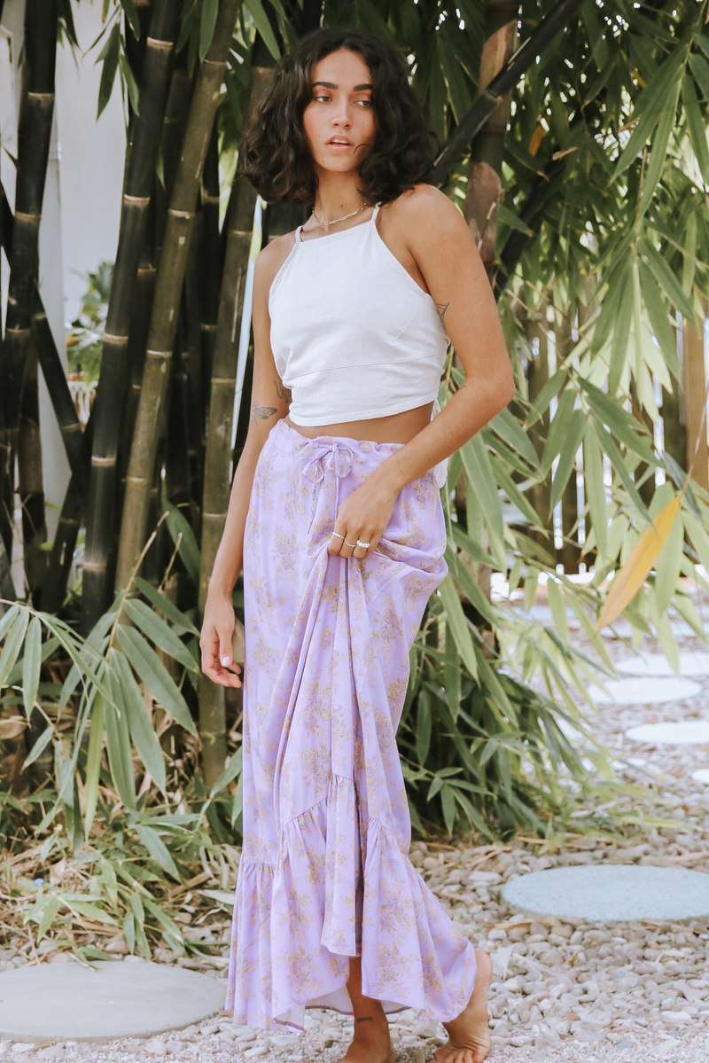 Lilac Rouched Skirt Love Story