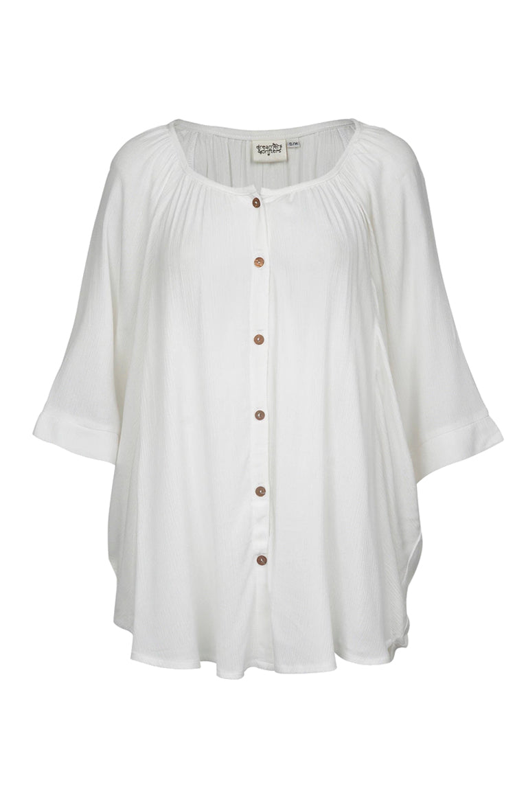 Blouse Champagne - White crinkle