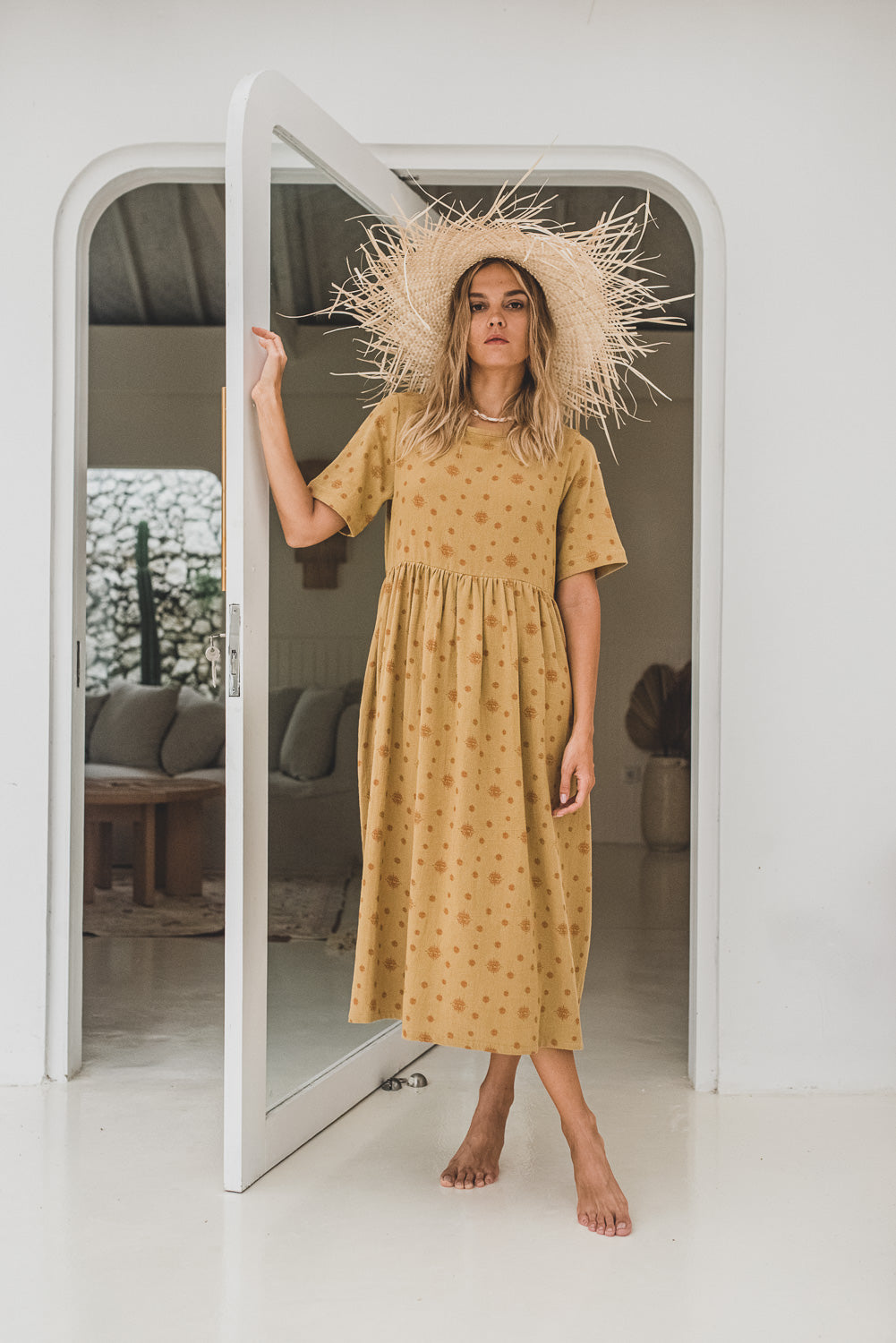 Honey Organic Cotton Midi Dress Nirvana