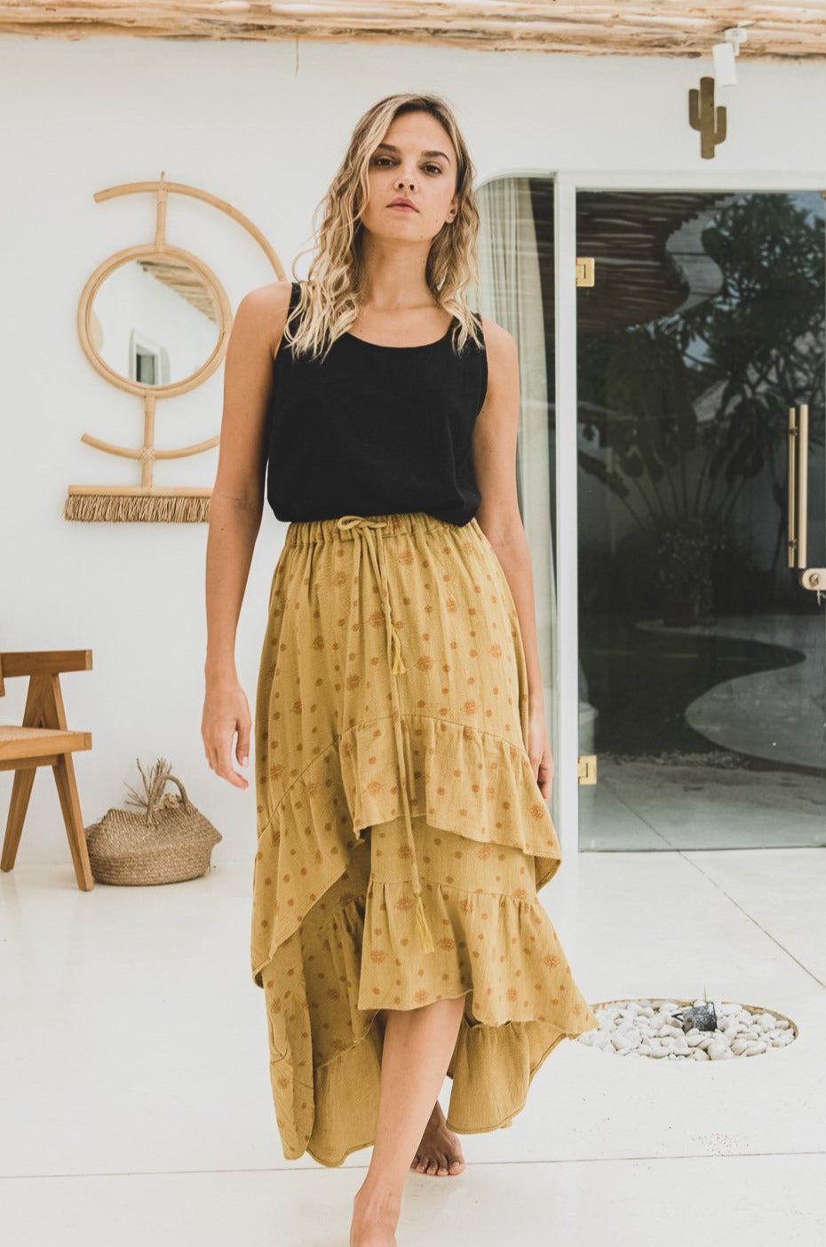 Honey Organic Cotton Double Frill Skirt Nirvana