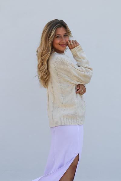 Oat Folk Cable Knit Jumper