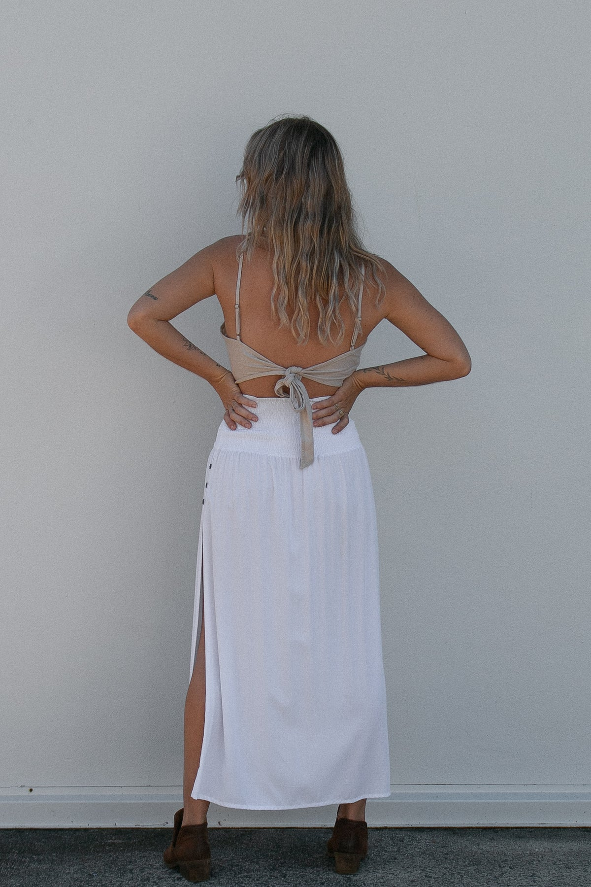 Graceland Skirt in White at Dreamers & Drifters