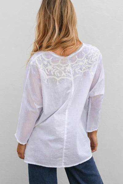 Tallow Top With Embroidery