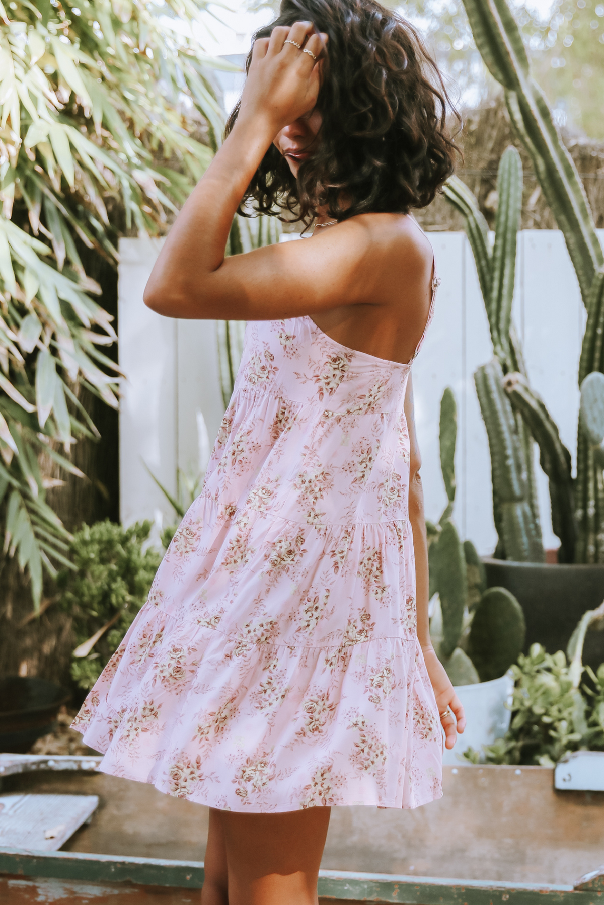 Rose Tiered Mini Dress Love Story
