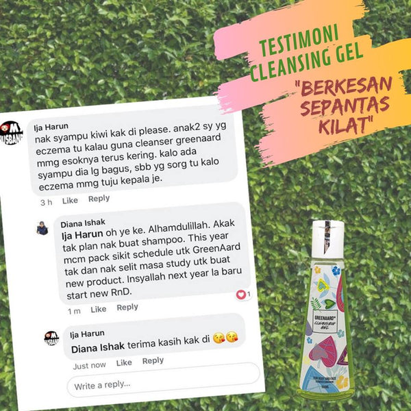 Testimoni Cleansing Gel GreenAard