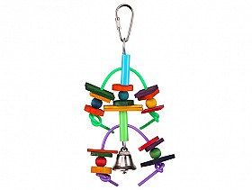 Kazoo Two Tier with Log and Bell - Small-PARROTBOX PET SUPPLIES