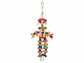 Parrotbox kazoo man with sisal rope for large birds
