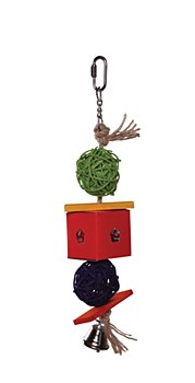 Wicker Balls and Foraging Box Toy